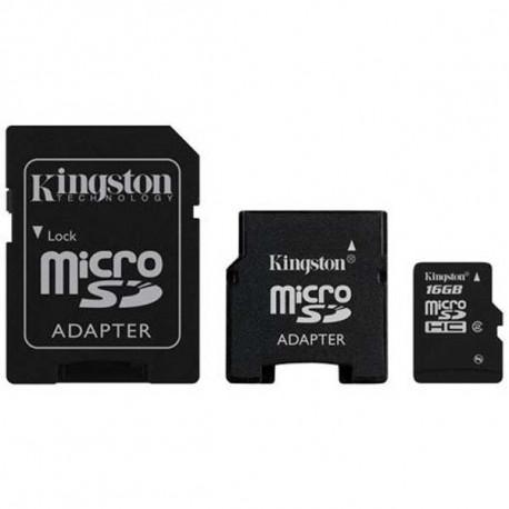 micro SDHC 16GB Kingston + adaptér