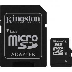 Kingston micro SDHC 8GB + adaptér