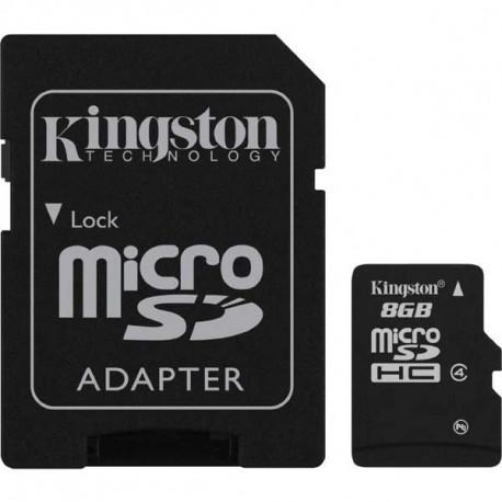 micro SDHC 8GB Kingston + adaptér