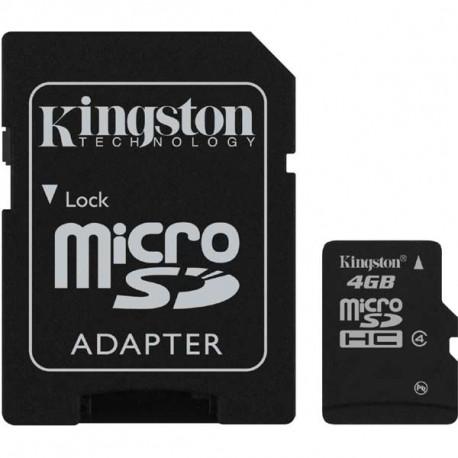 micro SDHC 4GB Kingston + adaptér