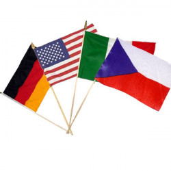Národní vlajky s tyčkou