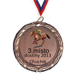 Bronzová medaile s potiskem a stužkou