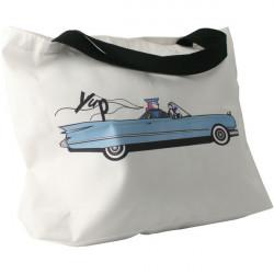 Plážová taška černo - bílá
