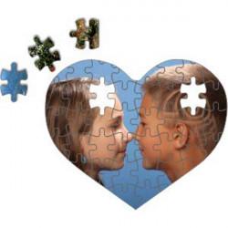 Kartonové puzzle srdce, vel.20x20cm, dílků-20