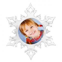Vánoční vločka s fotkou