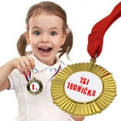 Ozdobná zlatá medaile