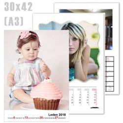 A3 Nástěnné kalendáře, (30x42cm) bílé pozadí