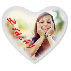 Potisk polštářů tvar srdce