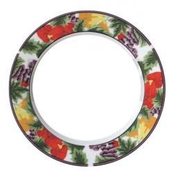 Potisk talíře s barevným vzorem, 20cm