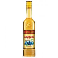 Etikety na Slivovici Jelínek zlatá 0,5l