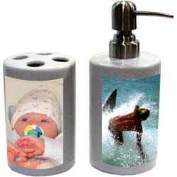Koupelnový set (na mýdlo a kartáčky)