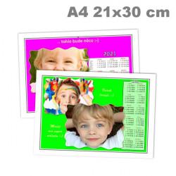 Kalendář roční 21x30cm (A4) na šířku
