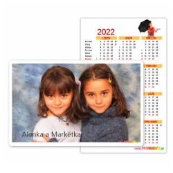 2ks Kapesní kalendář roční na šířku