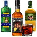 Etikety na láhve alkoholu