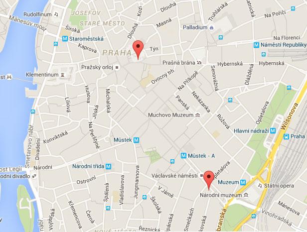 mapa prodejen Fotodarky.cz